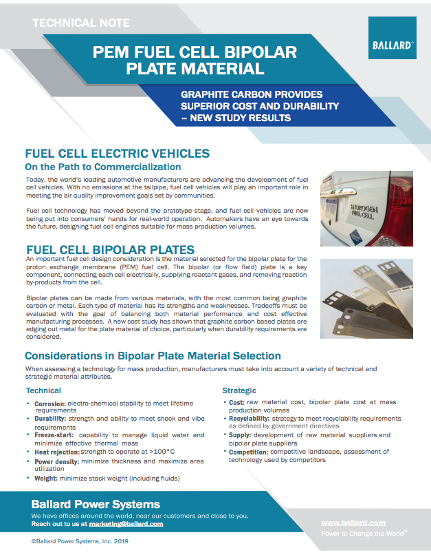 Bipolar Plate Material Technical Note